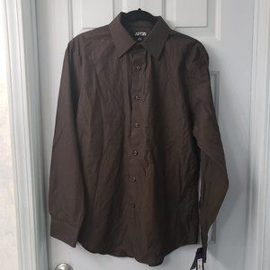 APT. 9 pinstripe button-down shirt -- NWT
